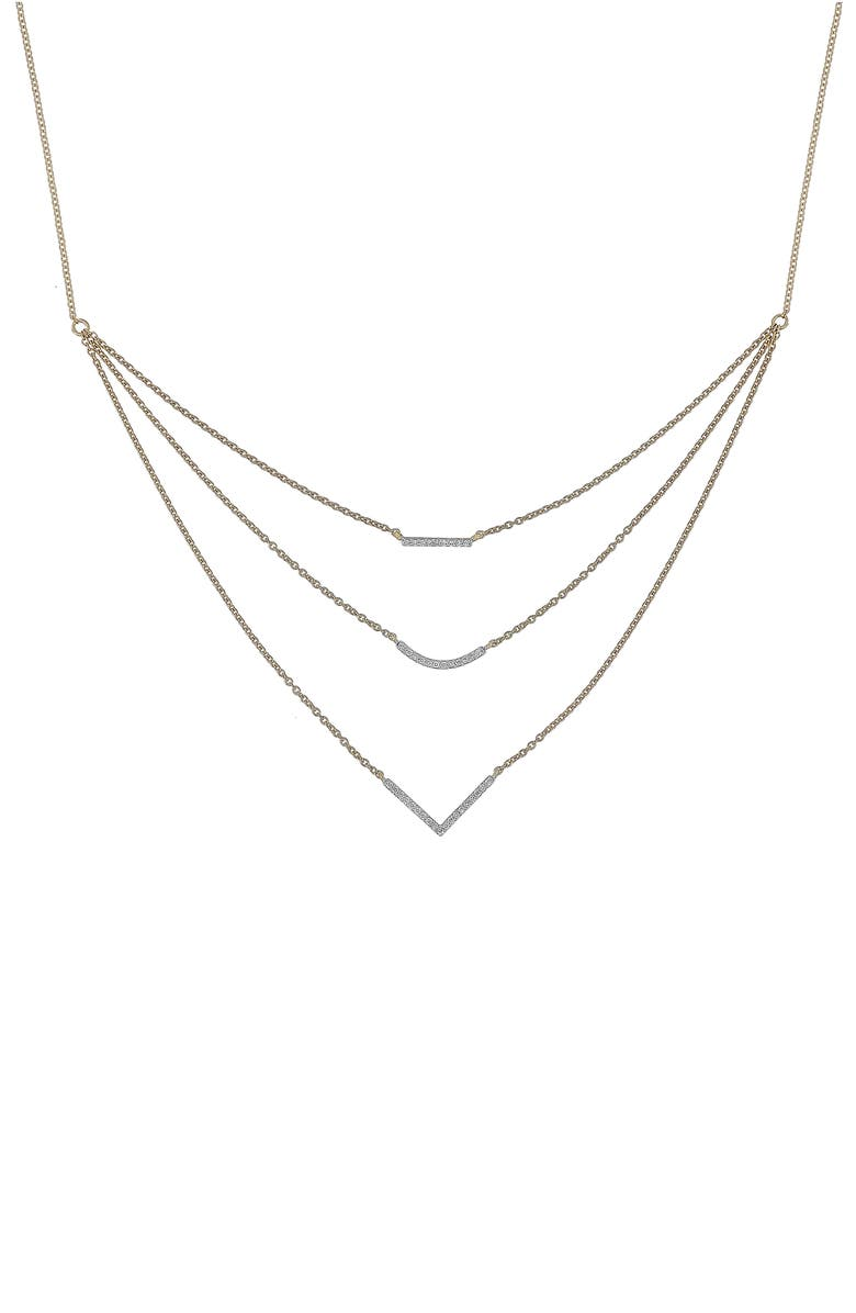 BONY LEVY Multistrand Diamond Pendant Necklace, Main, color, 710