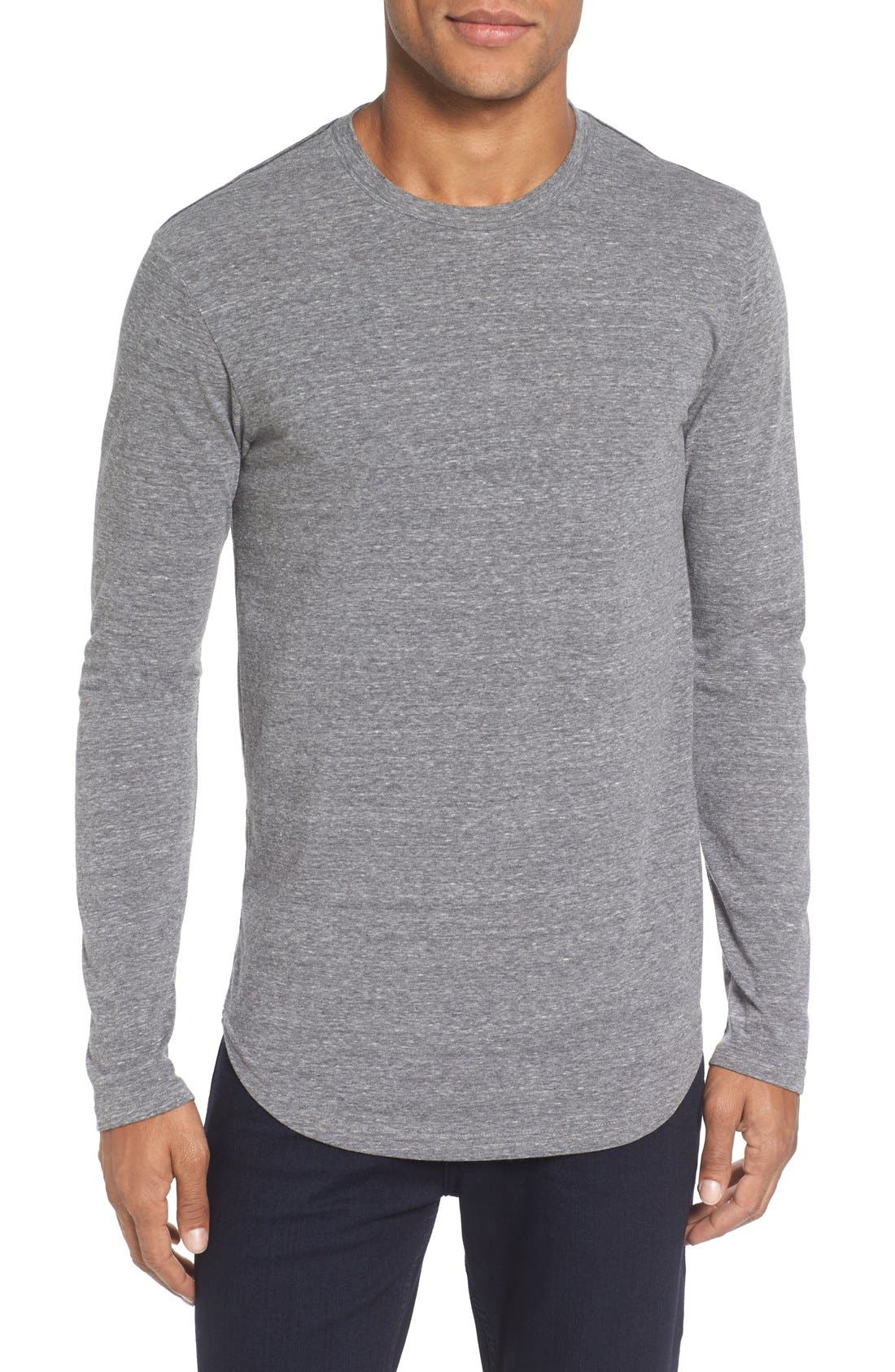 ,                             Triblend Scallop Long Sleeve Crewneck T-Shirt,                             Main thumbnail 7, color,                             020