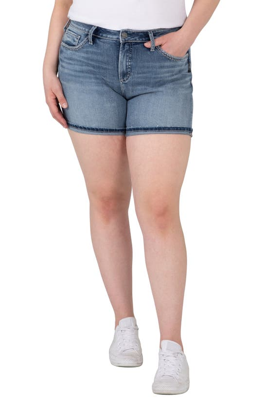 Silver Jeans Co. AVERY HIGH WAIST DENIM BERMDA SHORTS