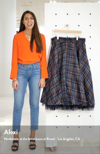 x Atlantic-Pacific Full Organza Midi Skirt, sales video thumbnail
