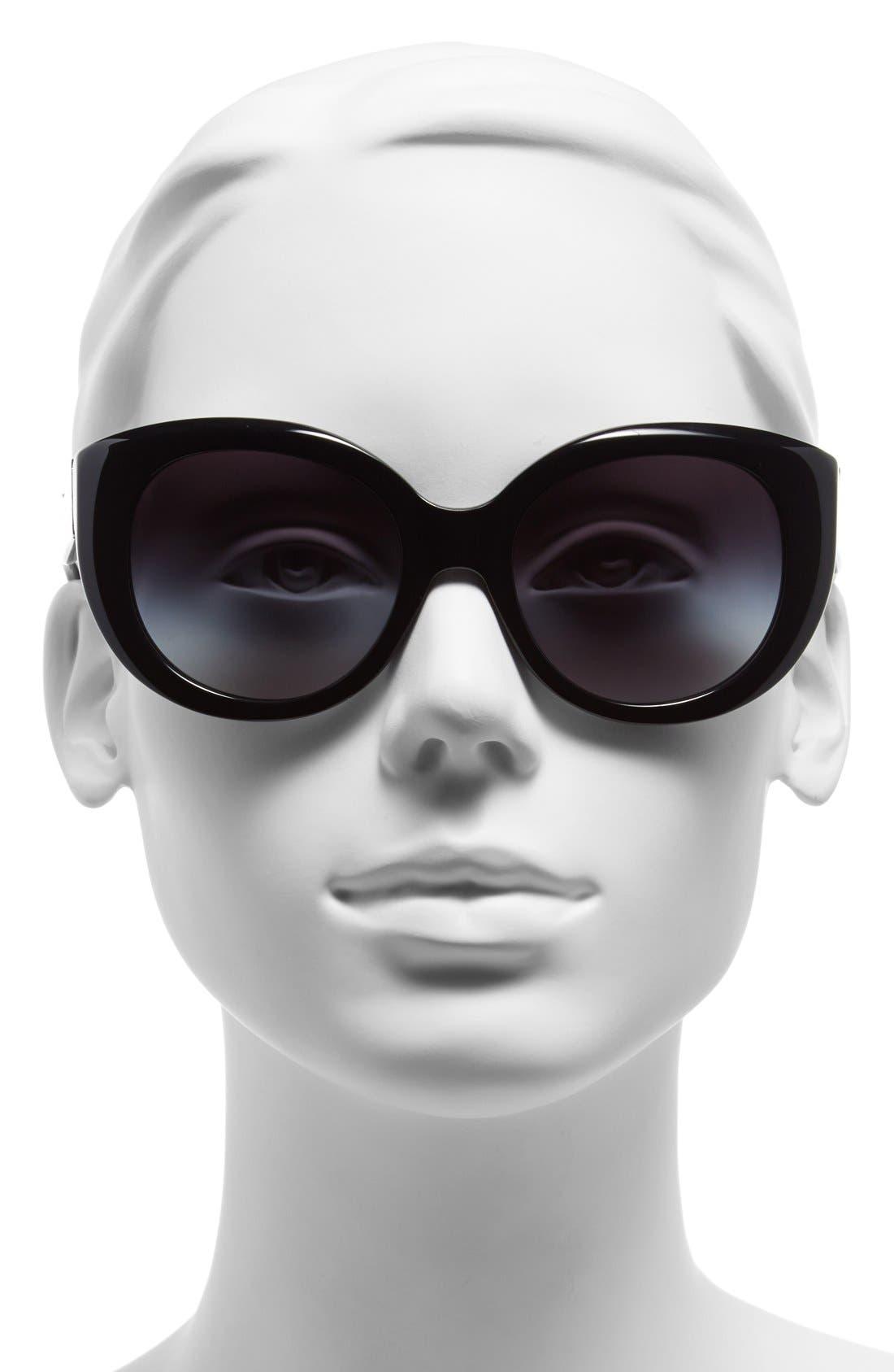 ,                             54mm Cat Eye Sunglasses,                             Alternate thumbnail 2, color,                             001