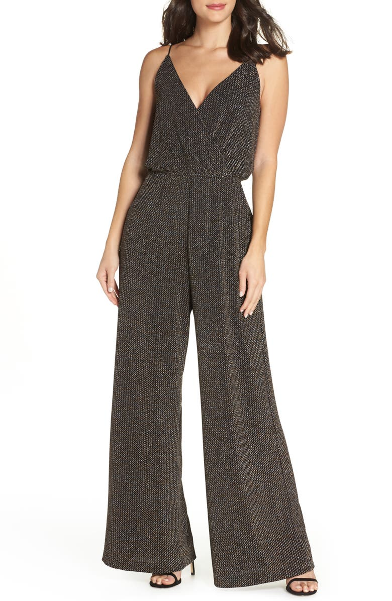CHELSEA28 Holiday Metallic Jumpsuit, Main, color, 040