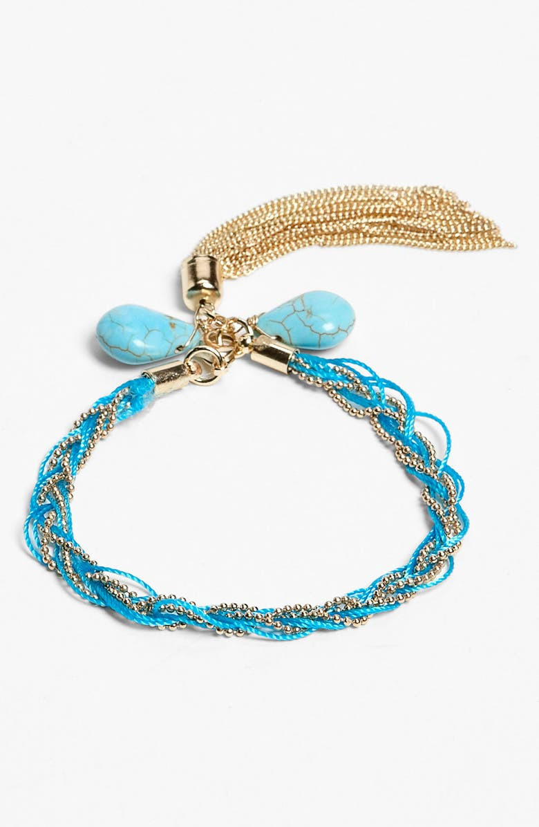 STEPHAN & CO. Tassel Braid Bracelet, Main, color, 400