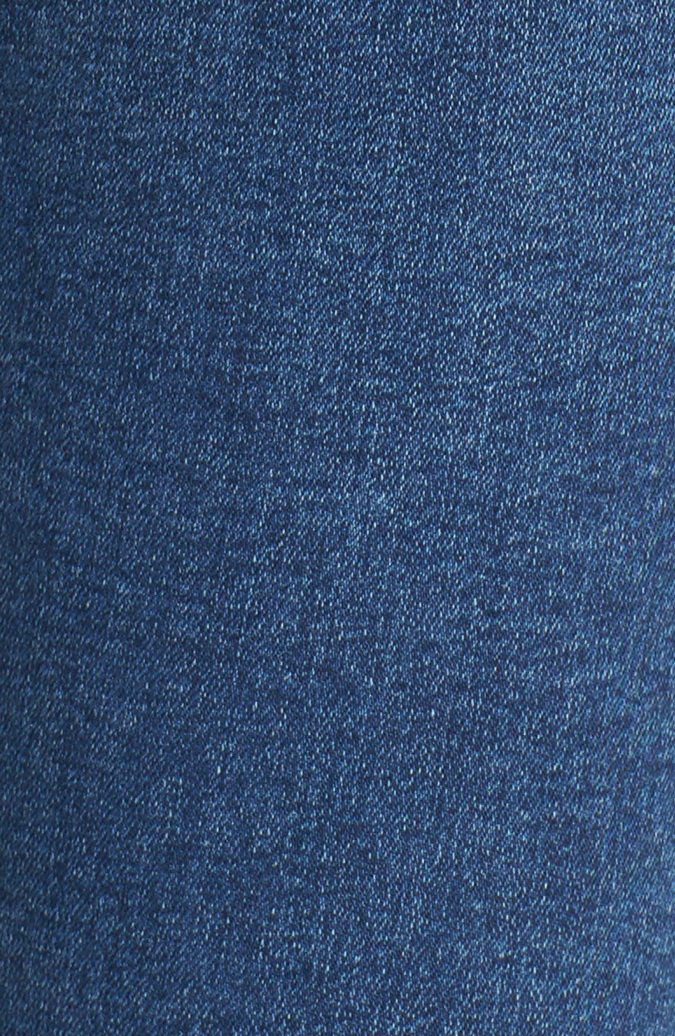 ,                             Jamie Indigo High Waist Skinny Jeans,                             Alternate thumbnail 6, color,                             401