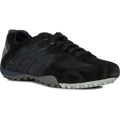 Geox Snake 134 Sneaker, Black