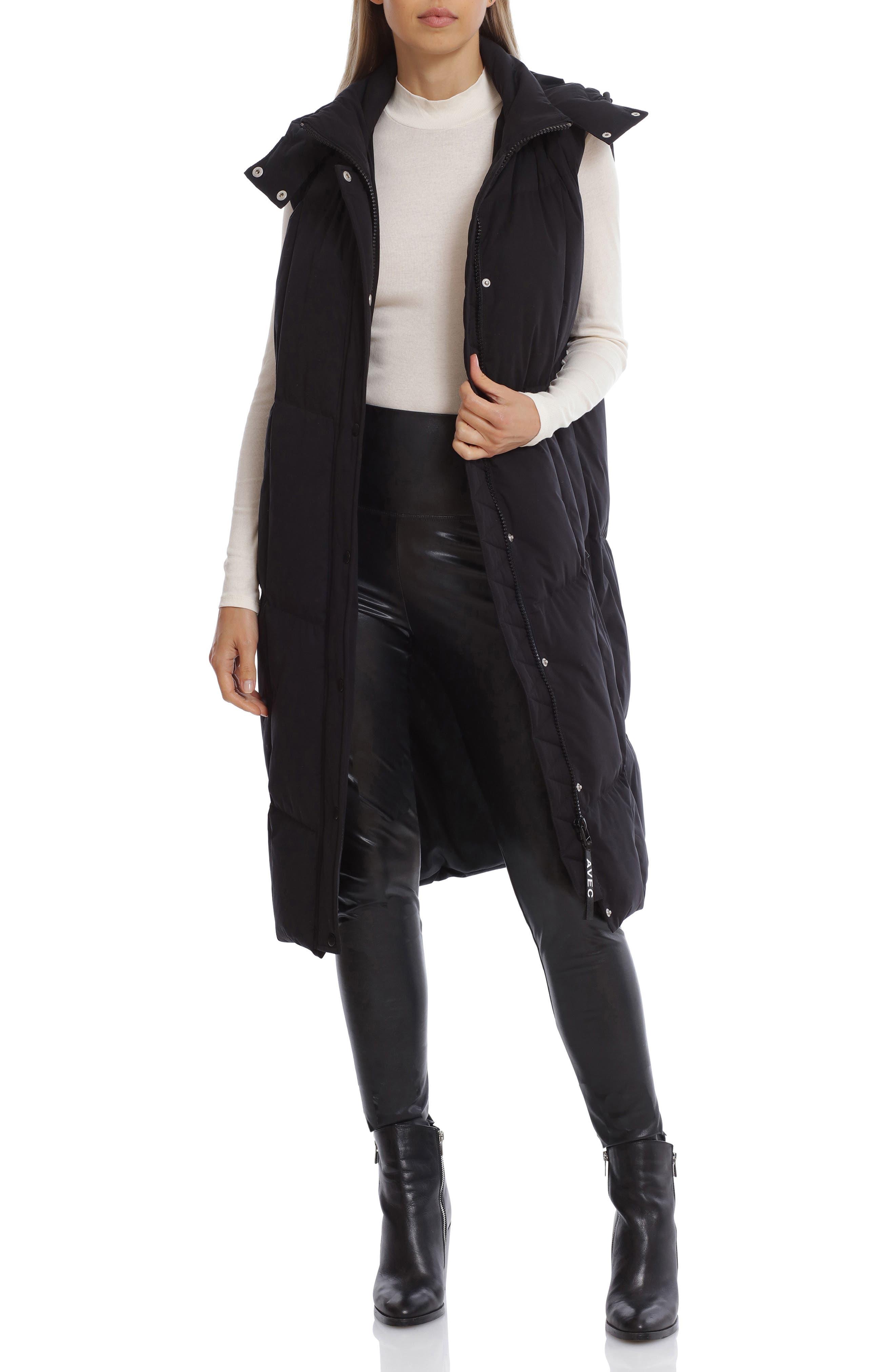 Hooded Longline Puffer Vest