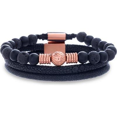 Steve Madden Bead & Leather Bracelet Set