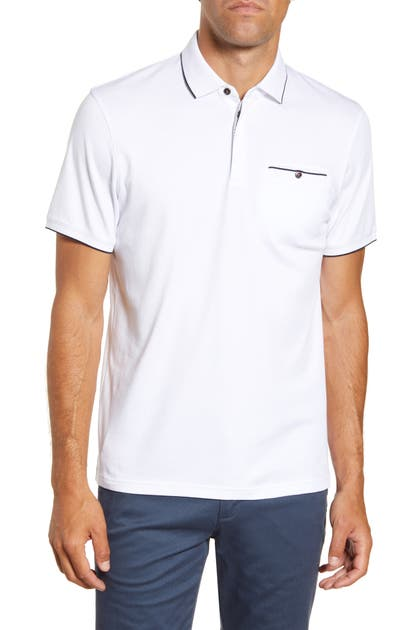 Ted Baker Tops SLIM FIT SOLID POLO