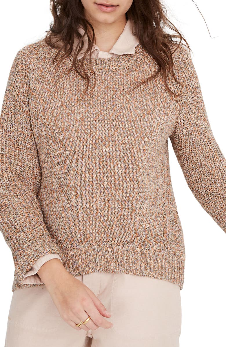 MADEWELL Marled Beverly Pullover Sweater, Main, color, MARLED CIDER