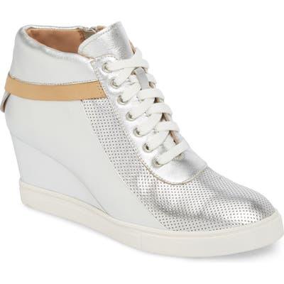 Linea Paolo Freja Wedge Sneaker, Metallic
