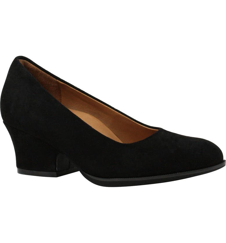 L'AMOUR DES PIEDS Jolanda Pump, Main, color, BLACK SUEDE