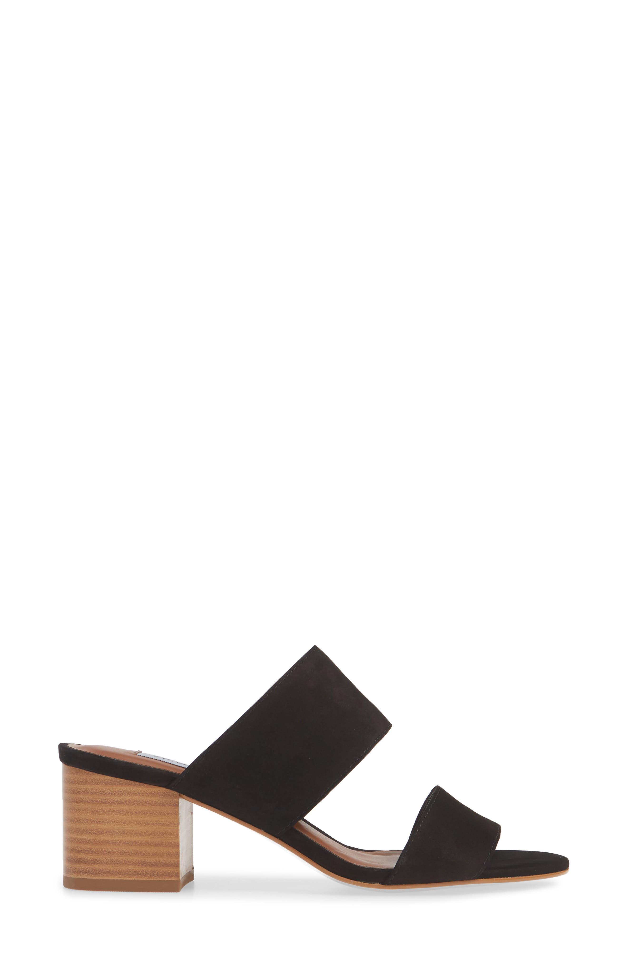,                             Ilena Block Heel Slide Sandal,                             Alternate thumbnail 4, color,                             BLACK