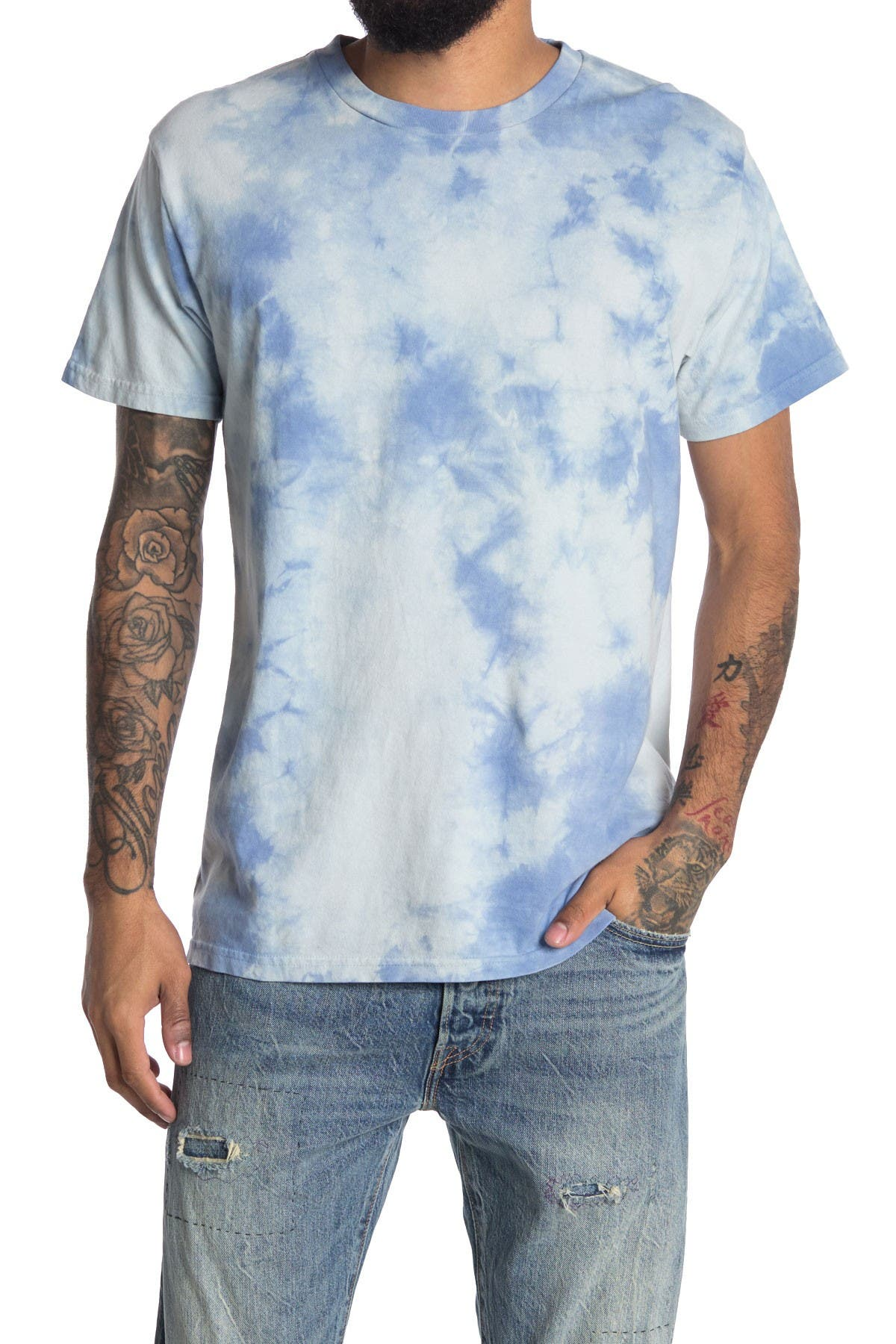 Image of Original Paperbacks Tie Dye Crew Neck T-Shirt