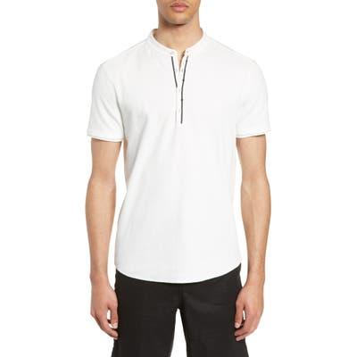 John Varvatos Star Usa Taylor Slim Fit Henley T-Shirt, White