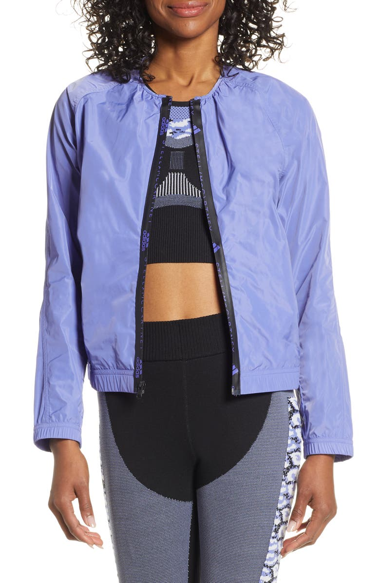 ADIDAS BY STELLA MCCARTNEY Bomber Jacket, Main, color, JOY PURPLE S13