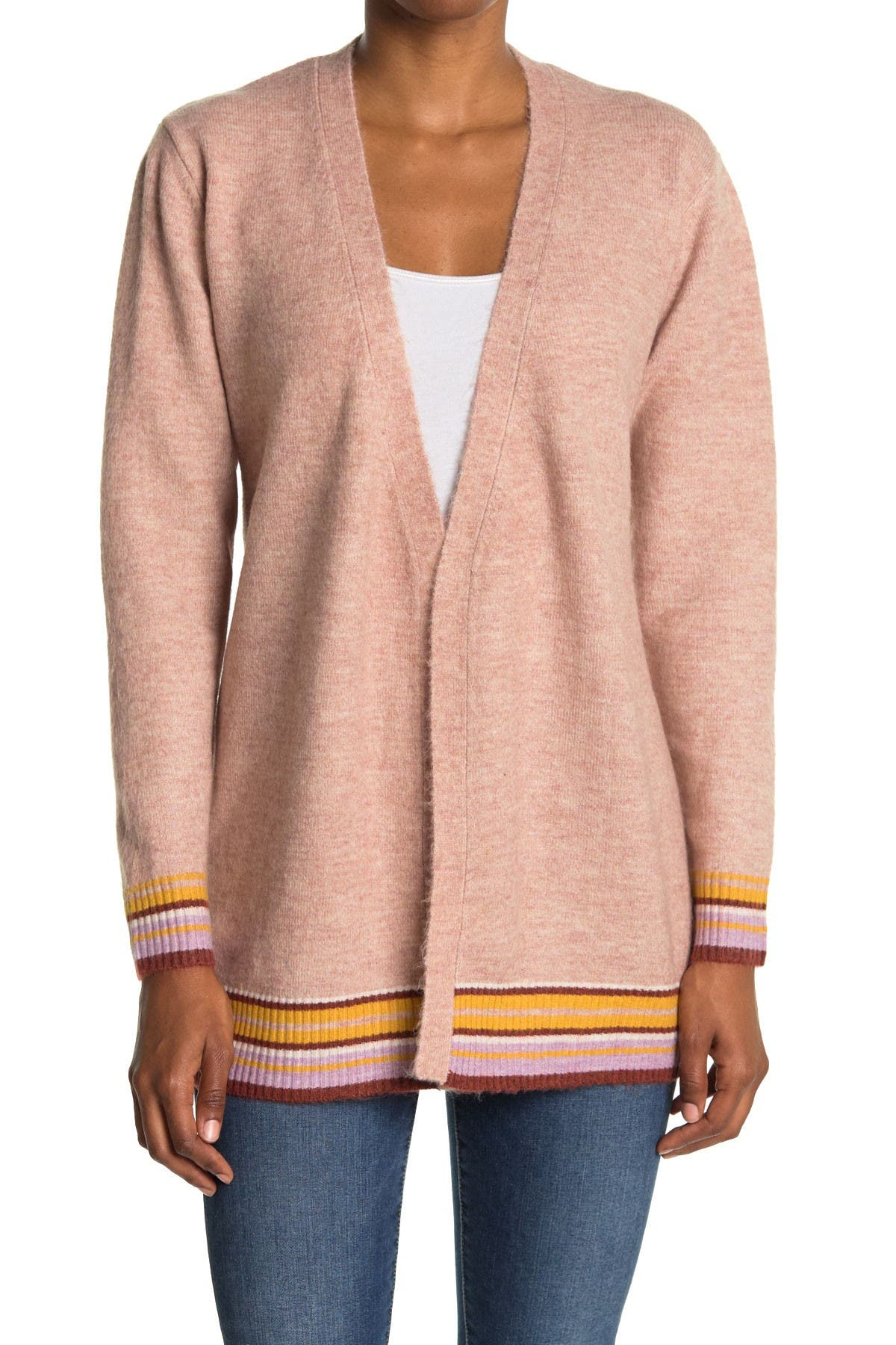 Image of Heartloom Tie Front Cardigan with Stripe