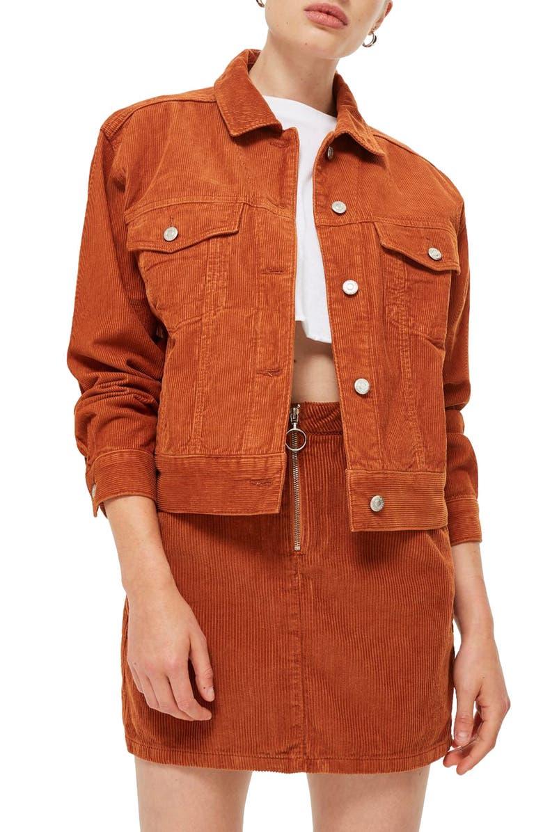 TOPSHOP Boxy Oversize Corduroy Jacket, Main, color, 210