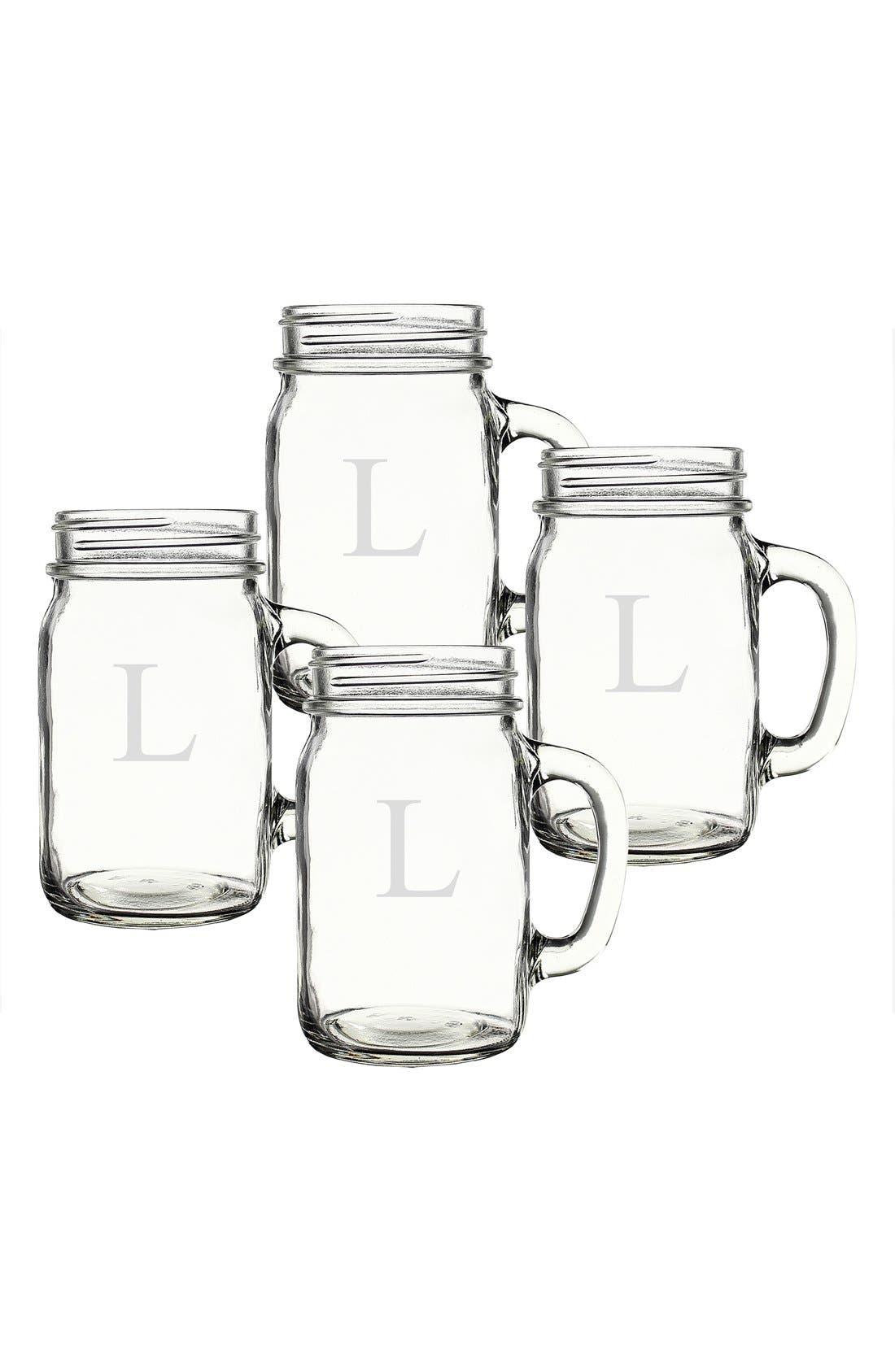 ,                             Monogram Glass Drinking Jars,                             Alternate thumbnail 39, color,                             971