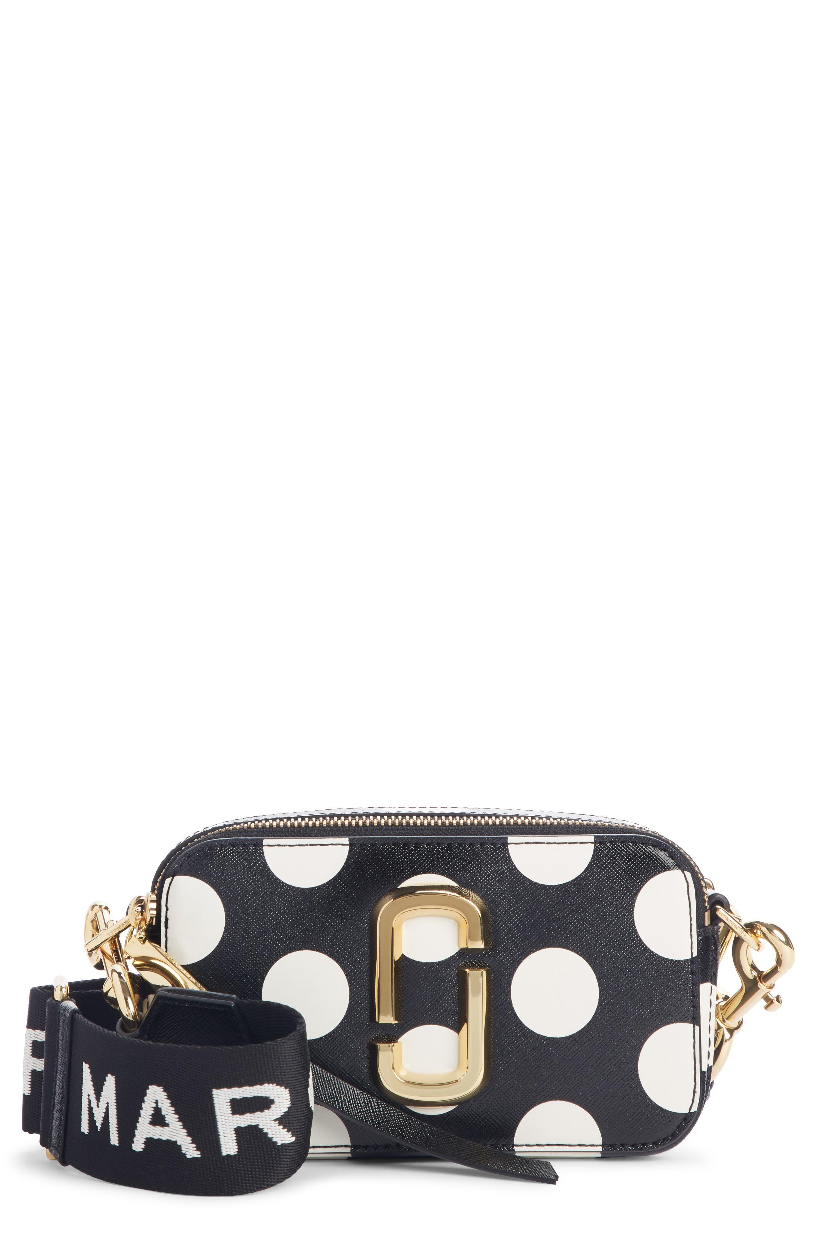 Dot Snapshot Leather Crossbody Bag, Main, color, BLACK MULTI