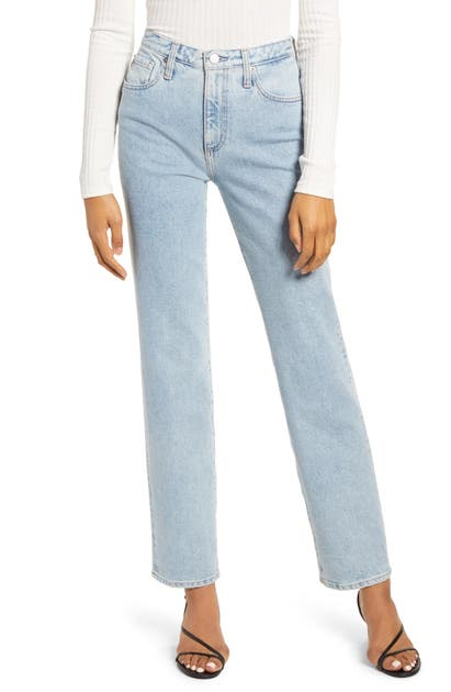 Ag E HIGH WAIST STRAIGHT JEANS