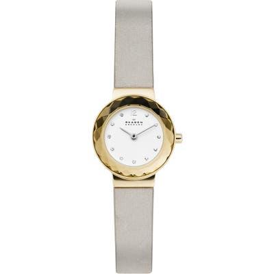 Skagen Leonora Leather Strap Watch, 25Mm