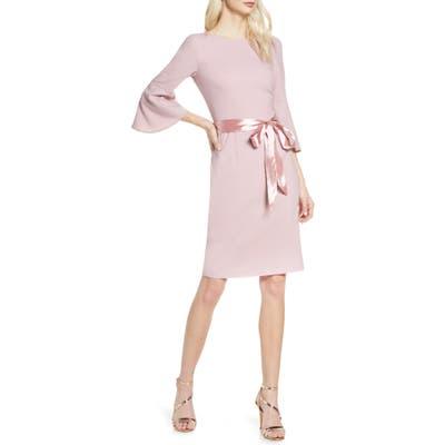 Chi Chi London Yohana Satin Sash Cocktail Dress, Pink
