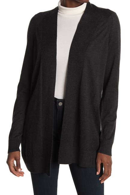 Image of Eileen Fisher Open Front Silk Blend Long Cardigan