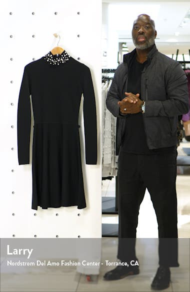 Long Sleeve Fit & Flare Sweater Dress, sales video thumbnail
