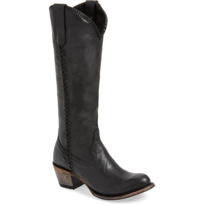 Lane Boots Plain Jane Knee High Western Boot, Black