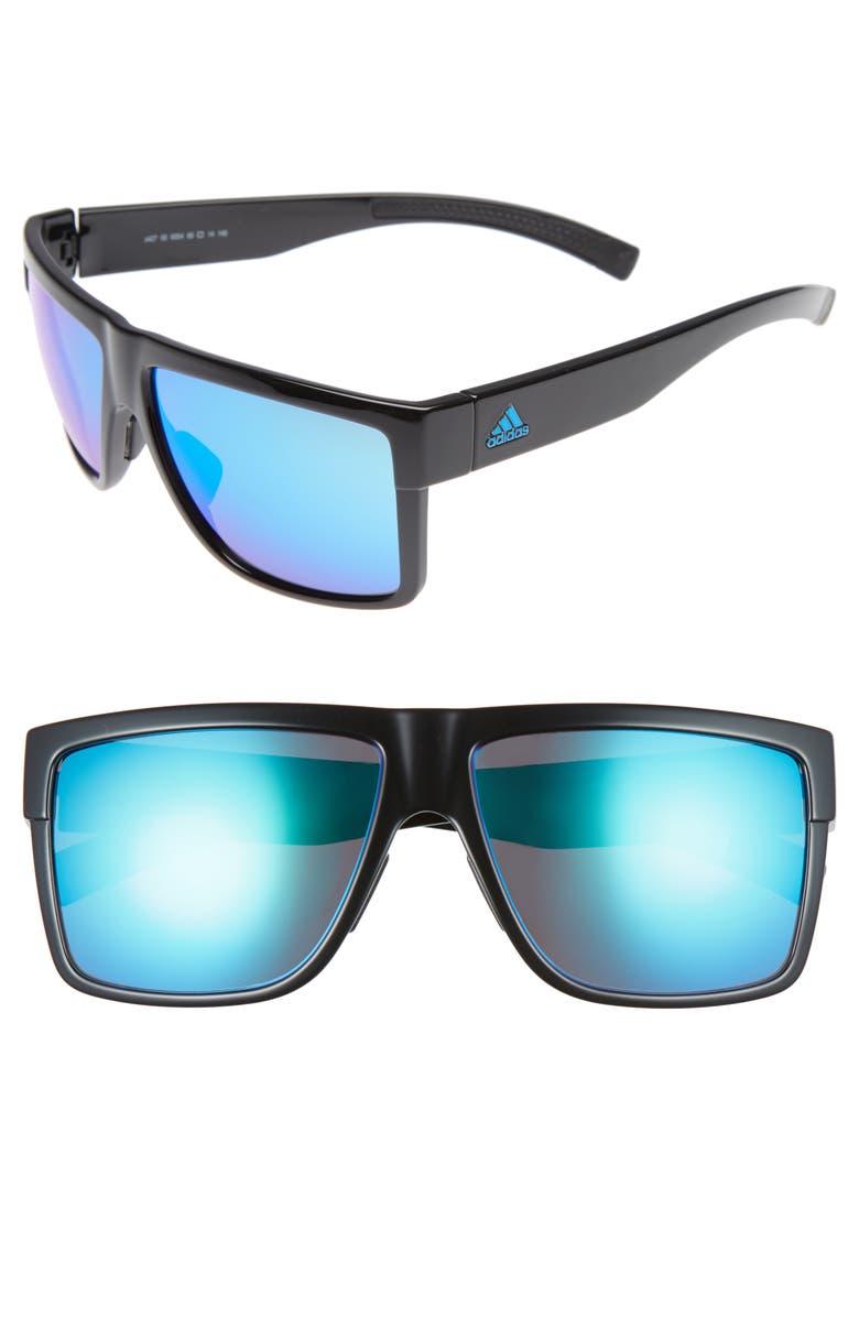 ADIDAS 3Matic 60mm Sunglasses, Main, color, 001
