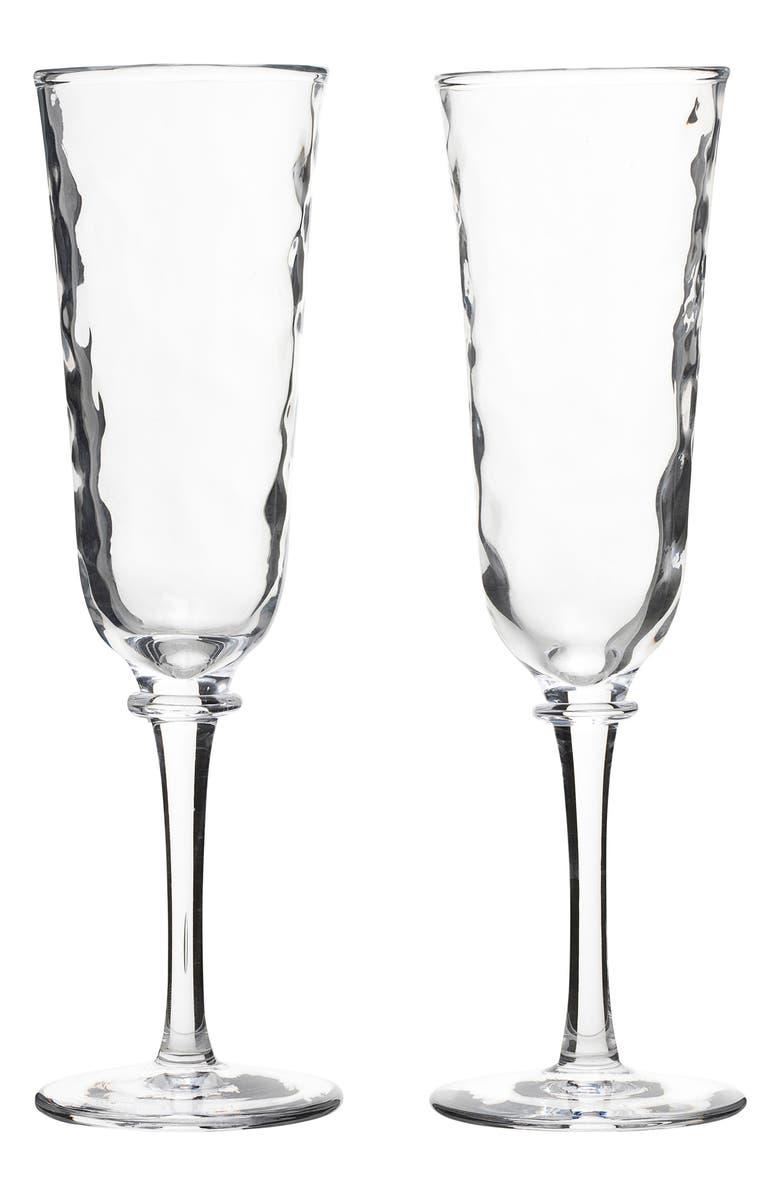 JULISKA Carine Set of 2 Champagne Flutes, Main, color, CLEAR