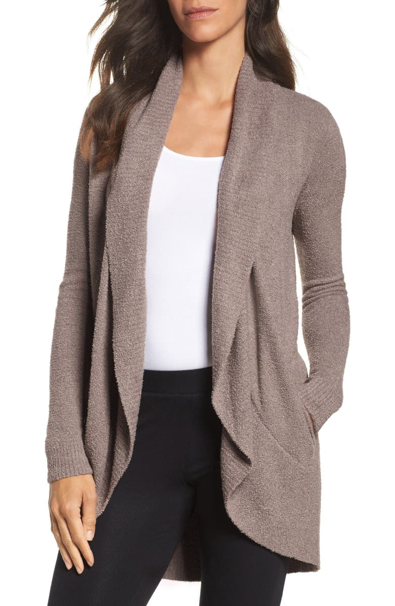 BAREFOOT DREAMS<SUP>®</SUP> CozyChic<sup>™</sup> Lite Circle Cardigan, Main, color, MINK