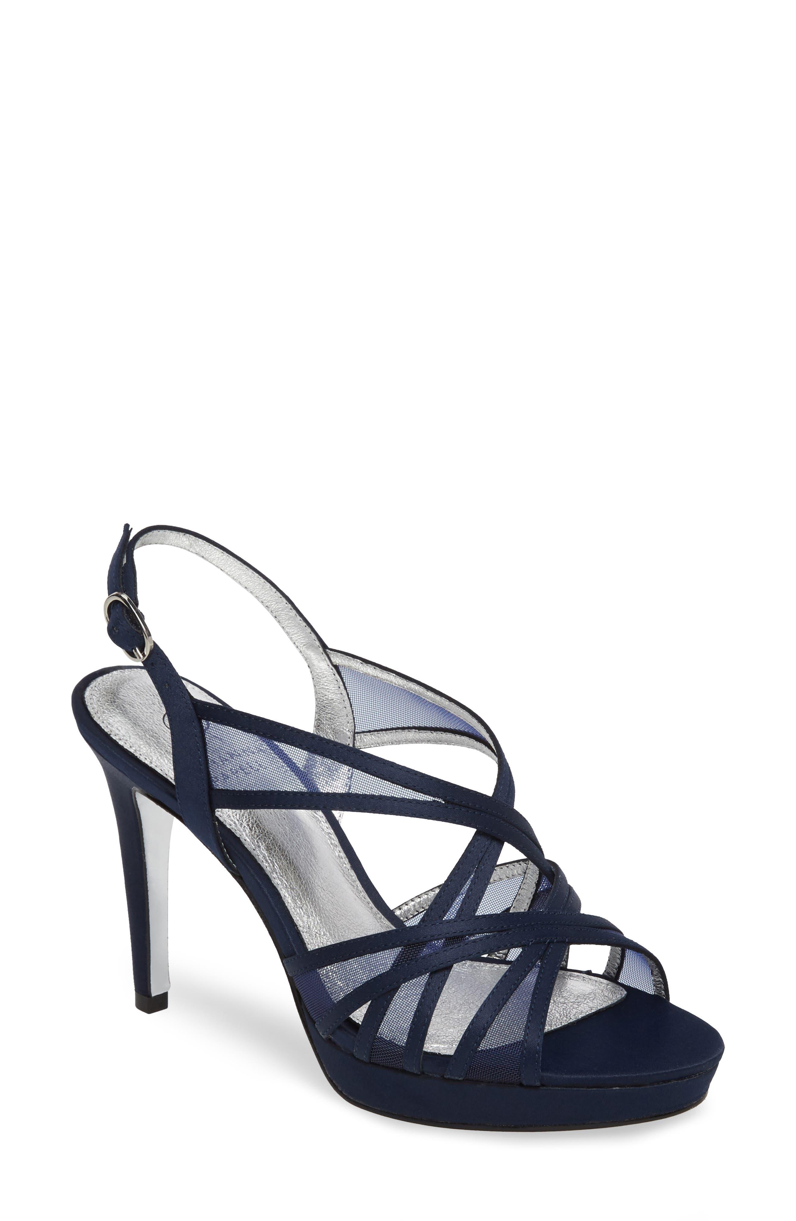 Adrianna Papell Adri Platform Sandal, Blue
