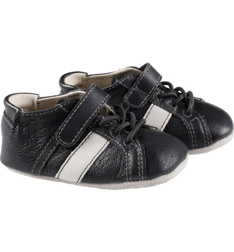 ROBEEZ<SUP>®</SUP> Rowan Crib Sneaker, Main, color, BLACK