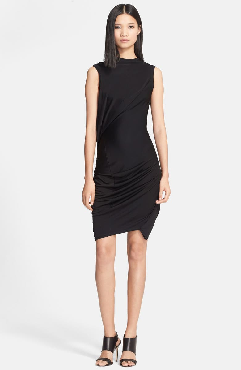 MCQ ALEXANDER MCQUEEN McQ by Alexander McQueen Draped Jersey Dress, Main, color, 001