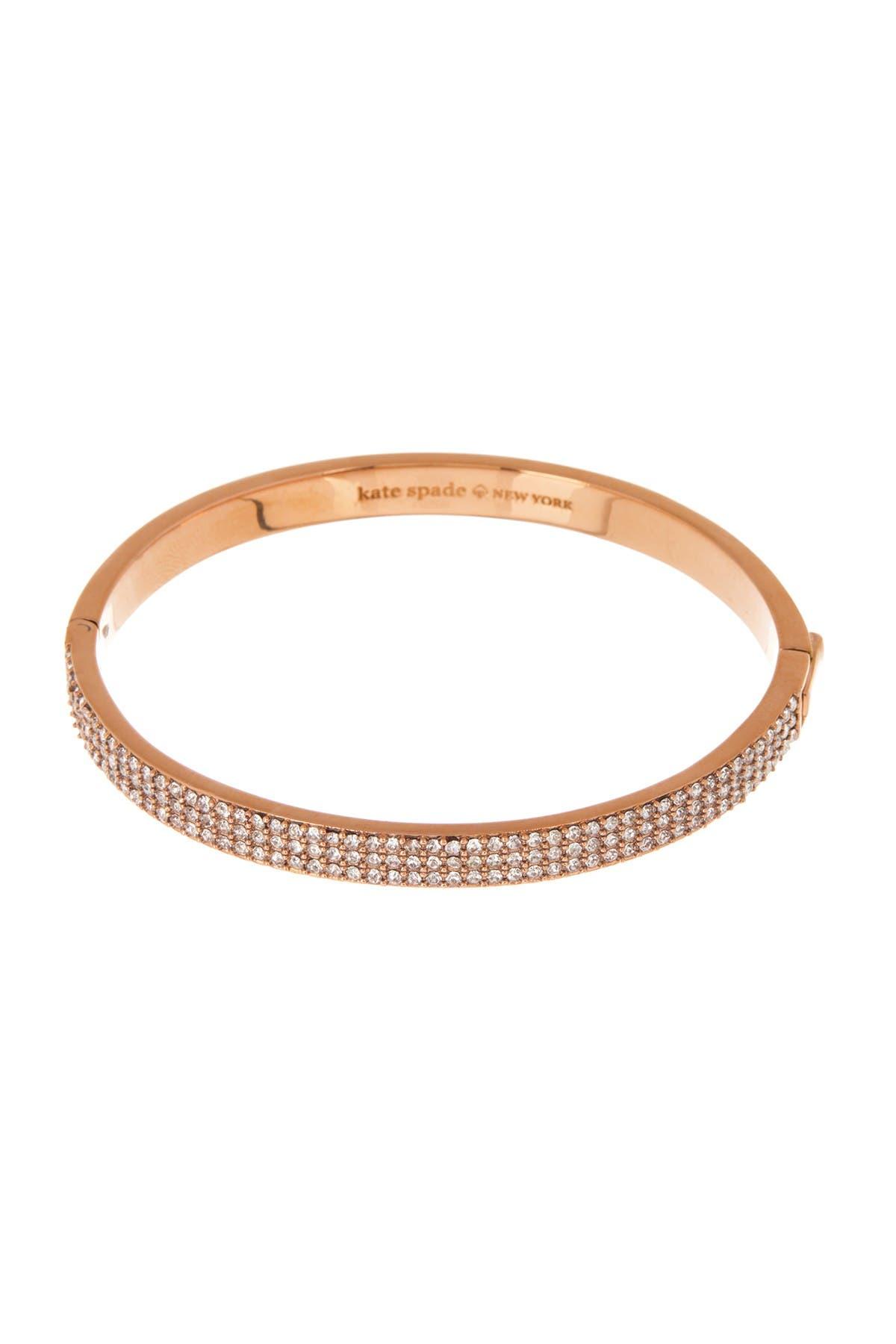 Image of kate spade new york heavy metals pave bangle bracelet