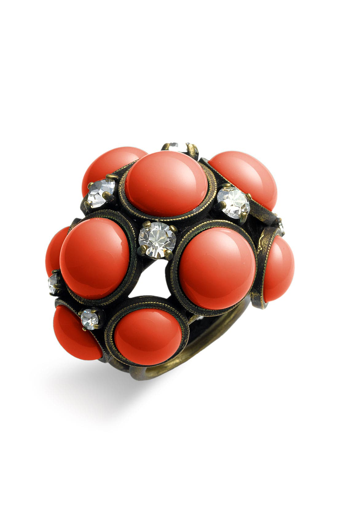 ,                             Glass Cabochon Statement Ring,                             Main thumbnail 2, color,                             950