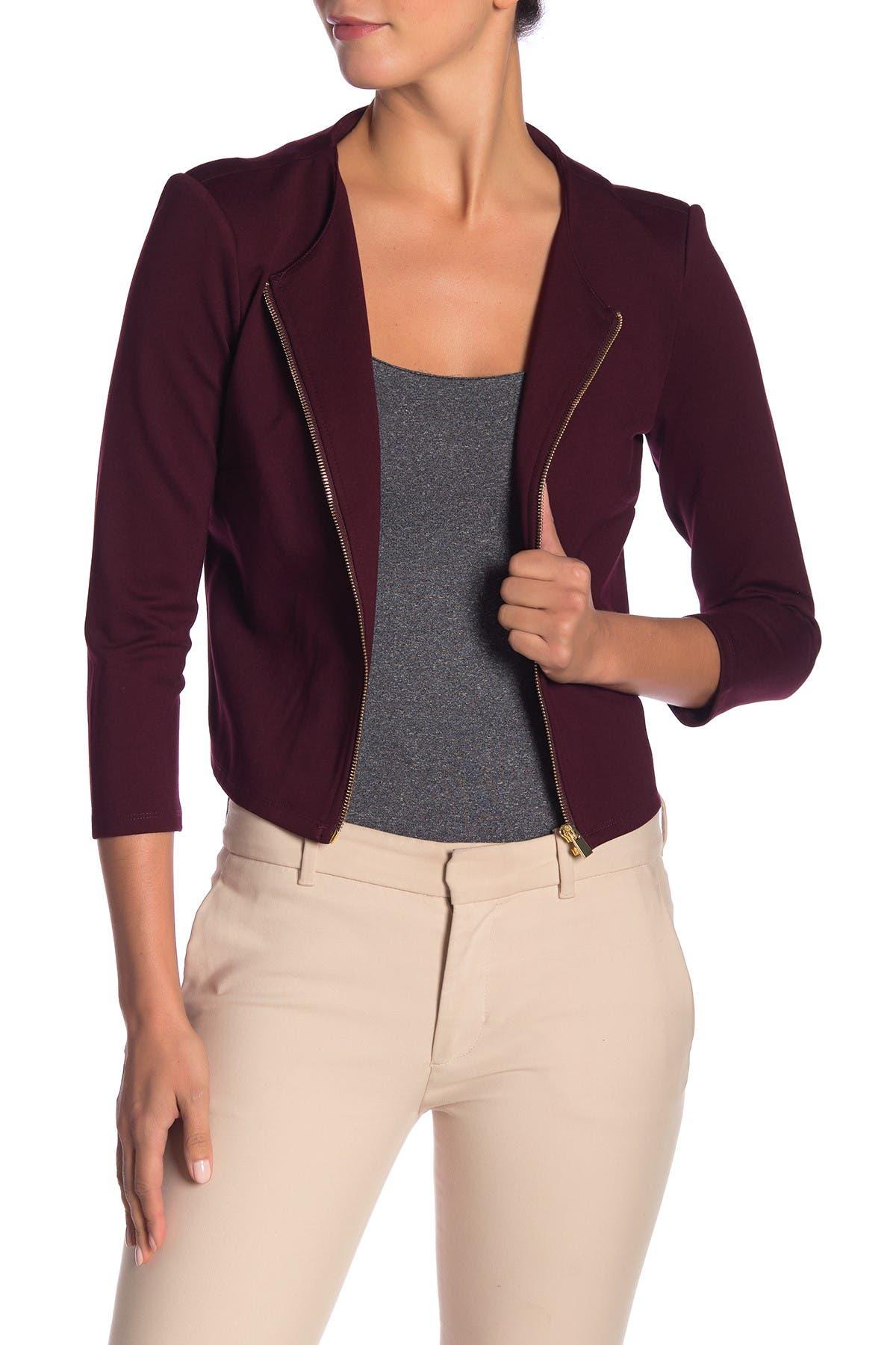 Image of Philosophy Apparel Ponte Zip Front Jacket