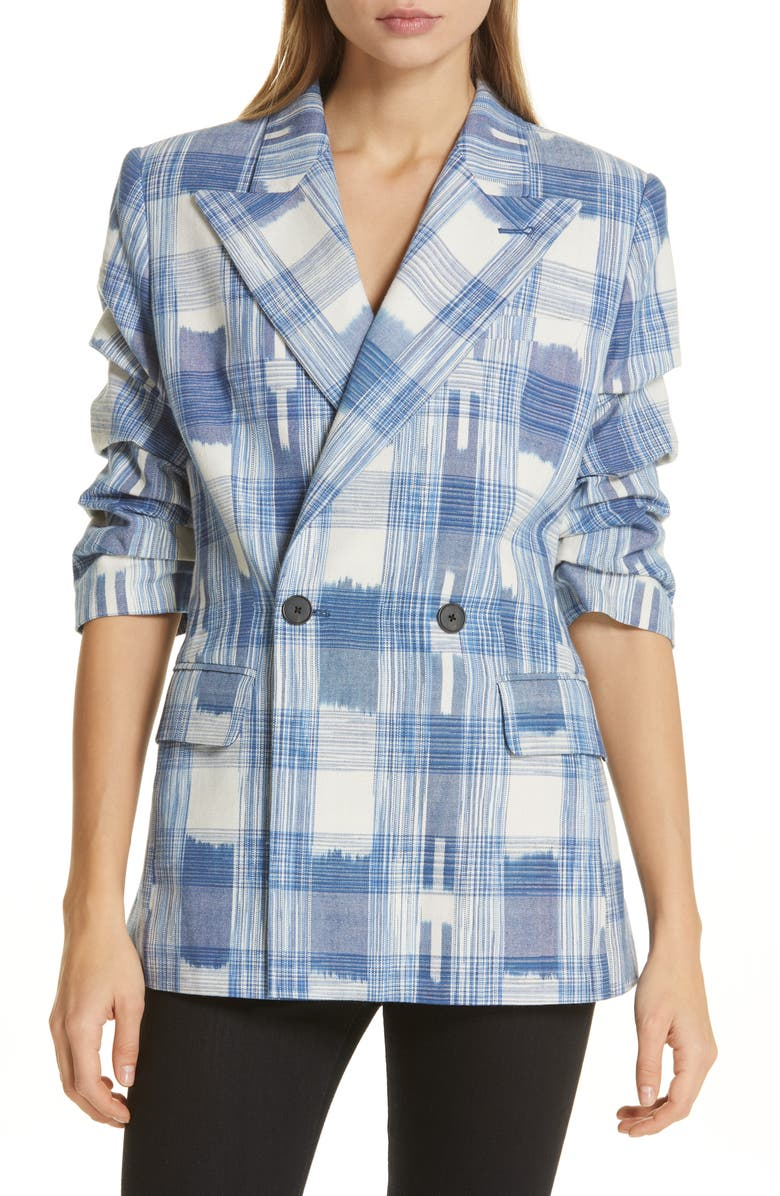 ROBERT RODRIGUEZ Hollie Plaid Jacket, Main, color, 400