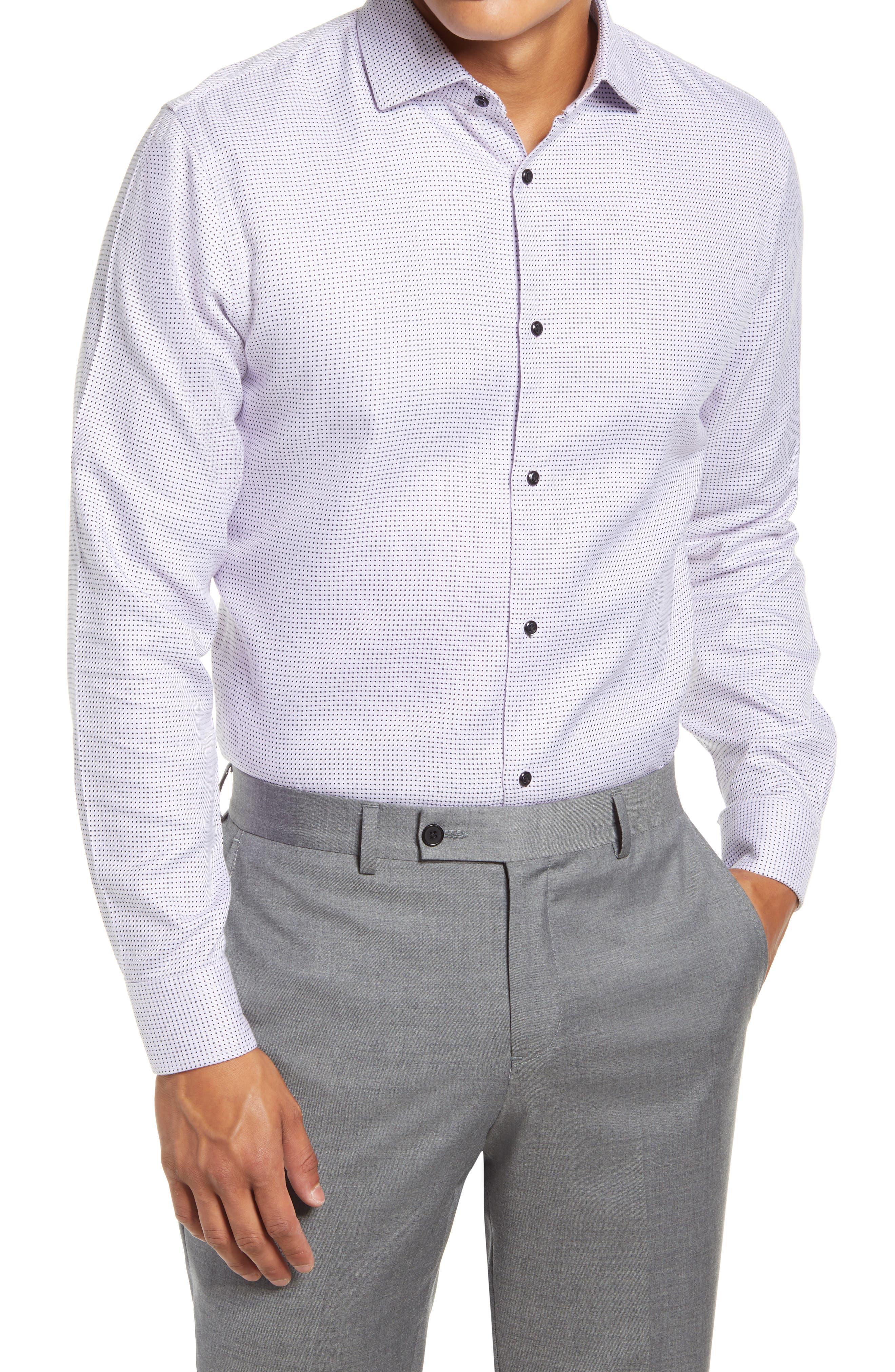 Image of NORDSTROM MEN'S SHOP Trim Fit Non-Iron Stretch Dress Shirt
