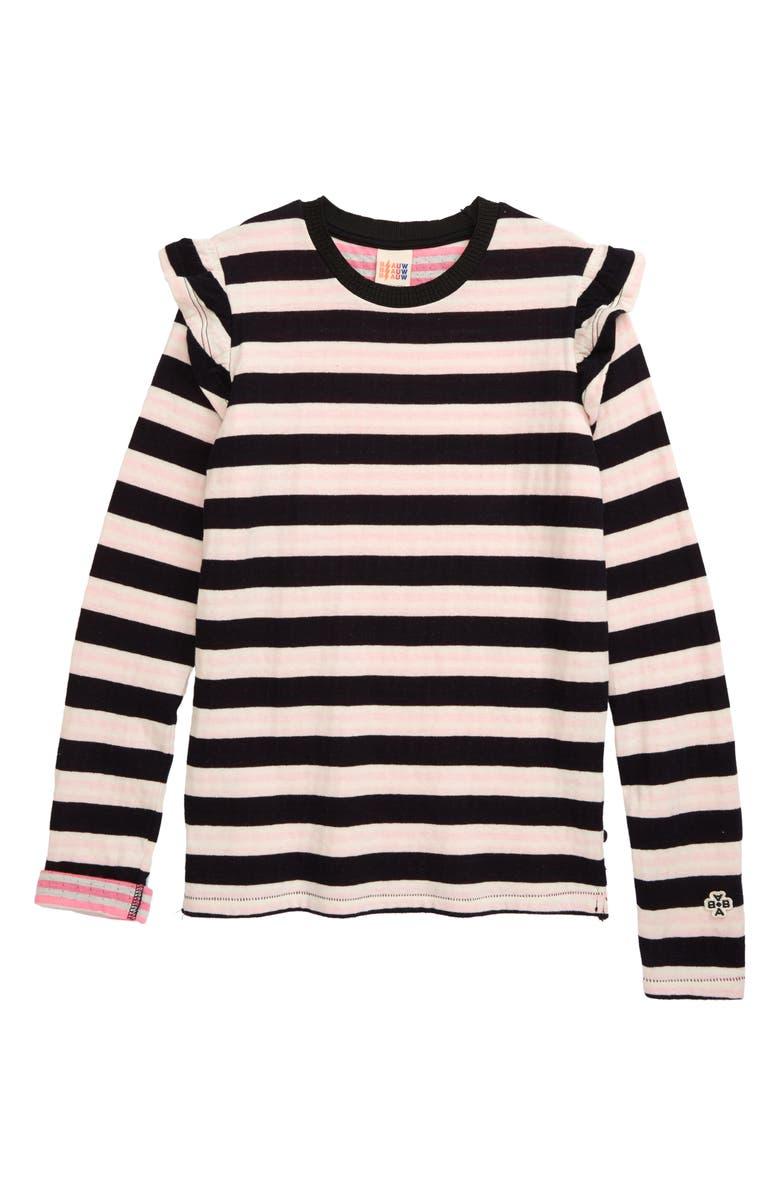 SCOTCH R'BELLE Double Knit Stripe Top, Main, color, PINK