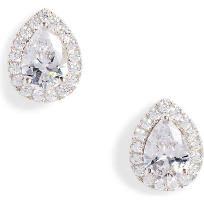 Nordstrom Pave Pear Cubic Zirconia Stud Earrings