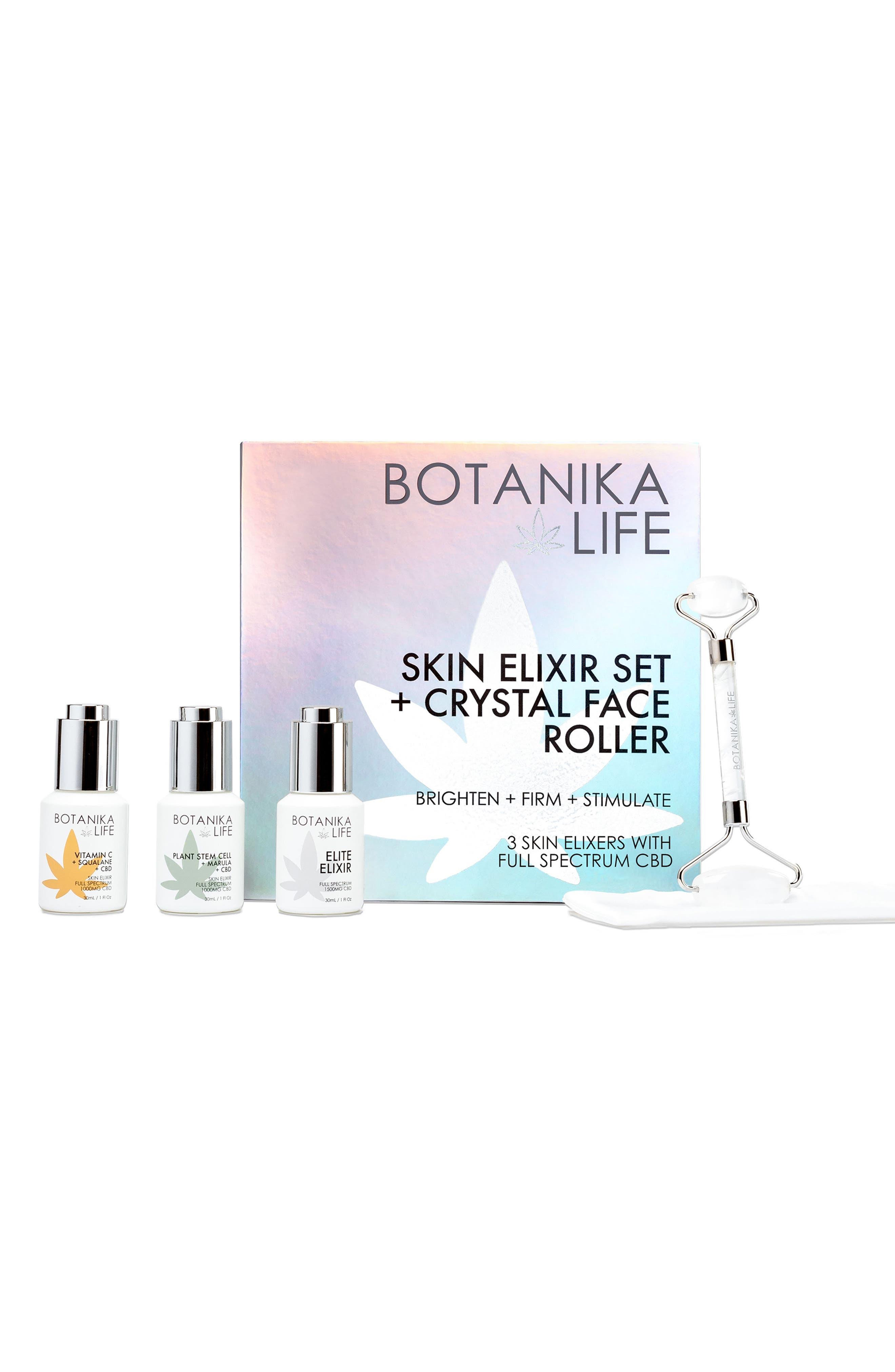 Skin Elixir Set + Crystal Roller Kit Box