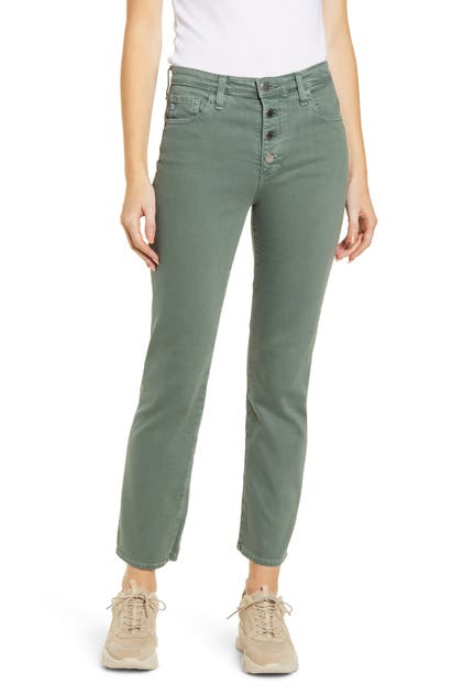 Ag Straight jeans THE ISABELLE BUTTON FLY HIGH WAIST ANKLE STRAIGHT LEG JEANS