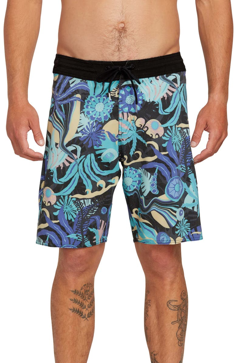 VOLCOM Tripped Stoney Board Shorts, Main, color, 001