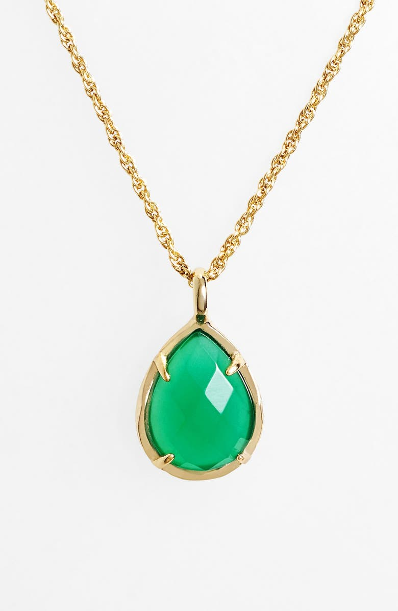 KENDRA SCOTT 'Kiri Birthstone' Teardrop Pendant Necklace, Main, color, 300