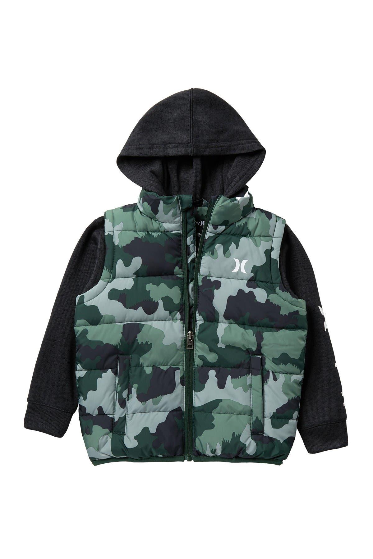 Image of Hurley Hooded Twofer Jacket