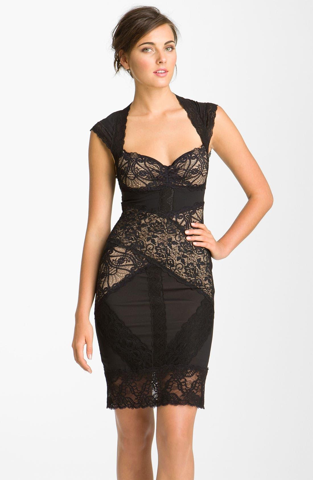 ,                             Lace Sheath Dress,                             Main thumbnail 1, color,                             003