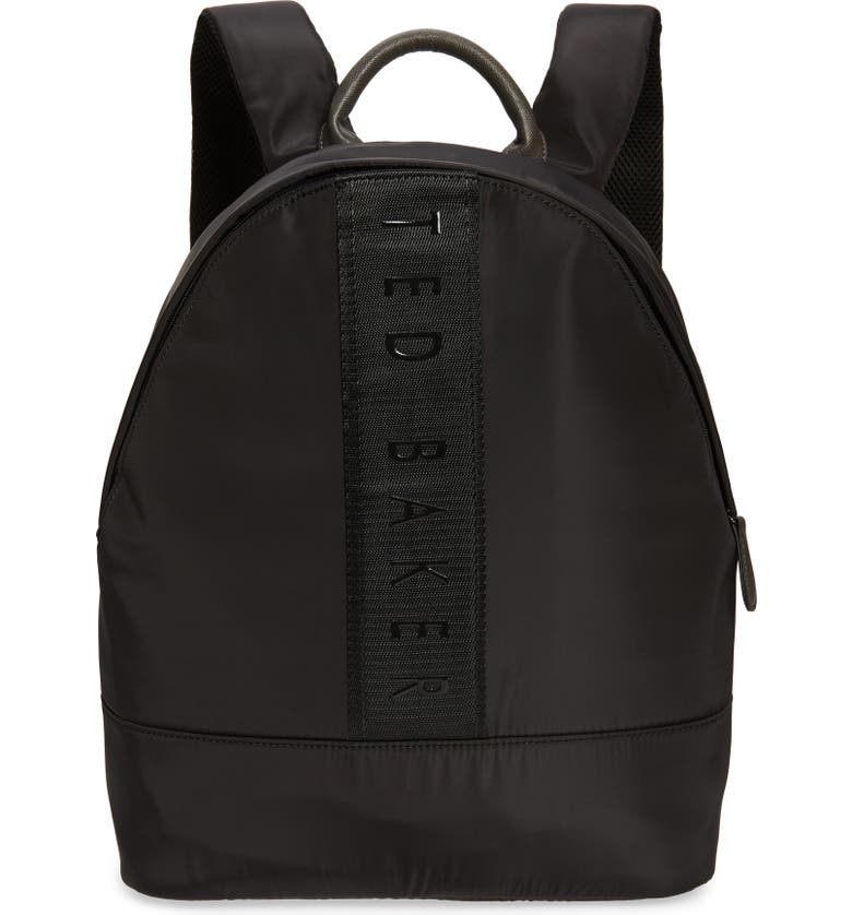 TED BAKER LONDON Regon Black Backpack, Main, color, BLACK