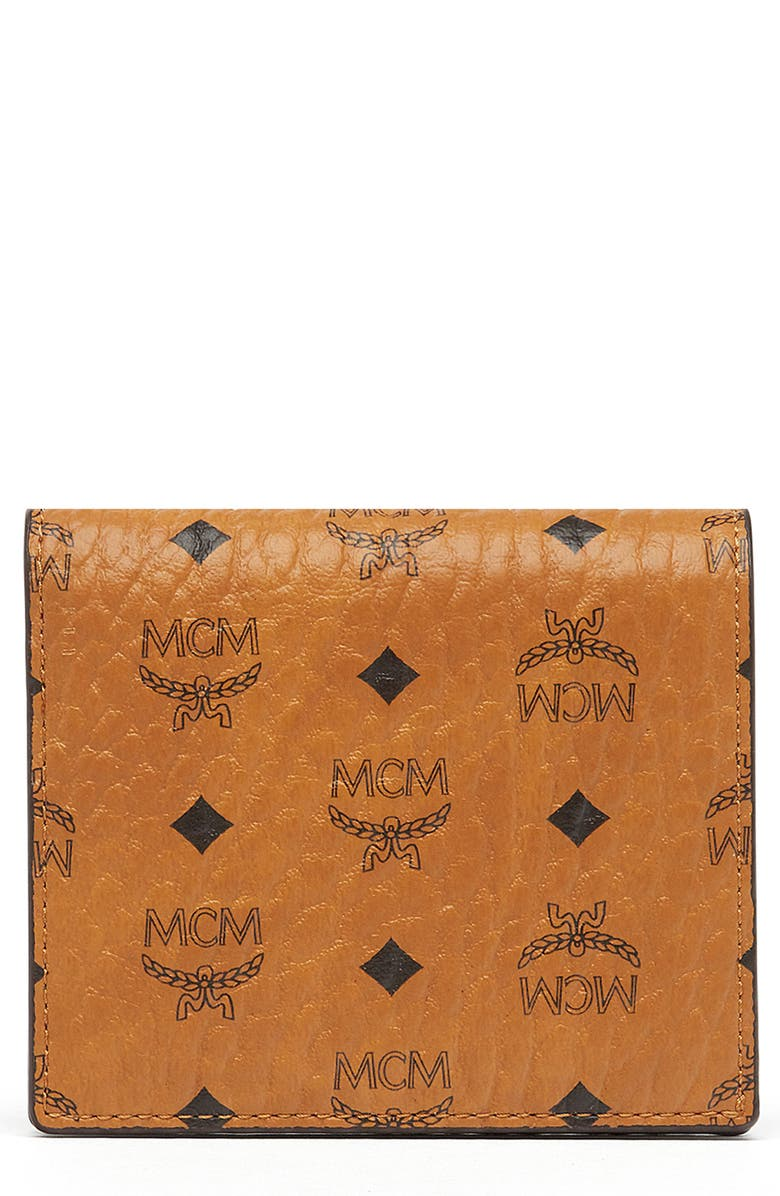 MCM Visetos Coated Canvas Flap Wallet, Main, color, 200